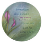 A Womans Heart - Calla Lily Plate