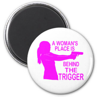A WOMAN'S PLACE 6 CM ROUND MAGNET