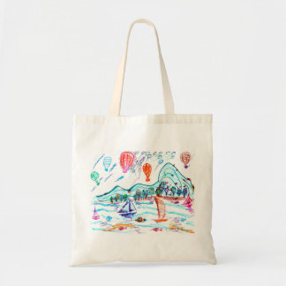 A Wonderful Day Budget Tote Bag