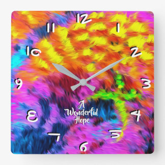 A Wonderful Hope Square Wall Clock