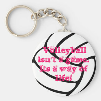 A wonderful volleyball key chain. basic round button key ring