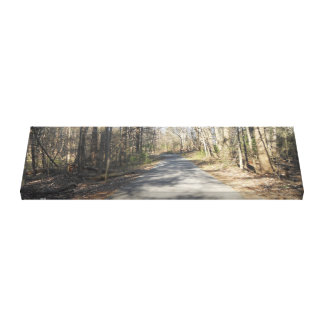 """A Wooded Stroll"" Canvas 36 by 12 Stretched Canvas Print"