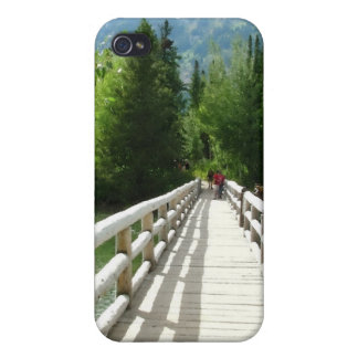 A wooden bridge in Grand Teton National Park iPhone 4/4S Covers