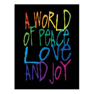 A World of Peace, Love, and Joy Postcard