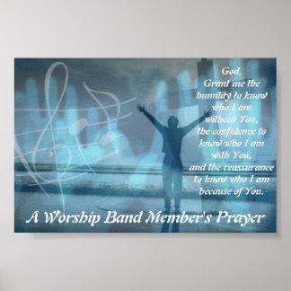 A Worship Band Member's Prayer Poster