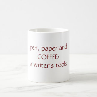 A writer's tools basic white mug