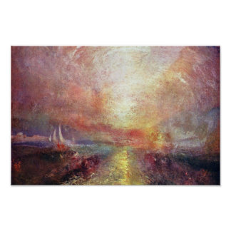 A Yacht Approaching The Arts By Turner Joseph Mal Poster