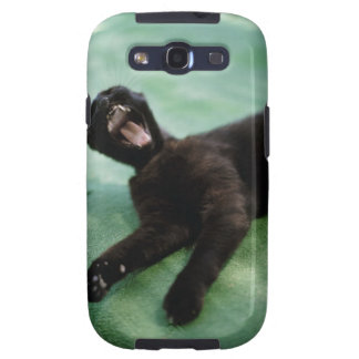 A yawning cat. samsung galaxy s3 covers