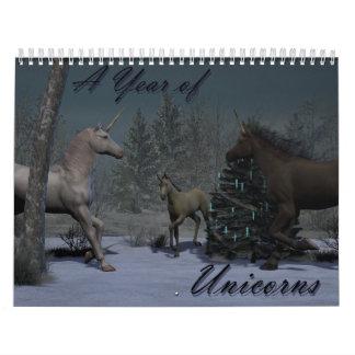 A Year of Unicorns Wall Calendar