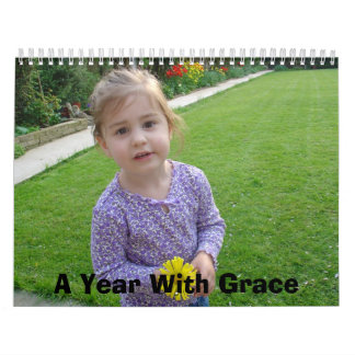 A Year With Grace Wall Calendar