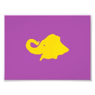 A Yellow Elephant Photograph