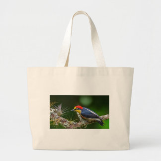 A Yellow Fronted Woodpecker in Brazil Large Tote Bag