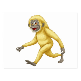A yellow gorilla postcard