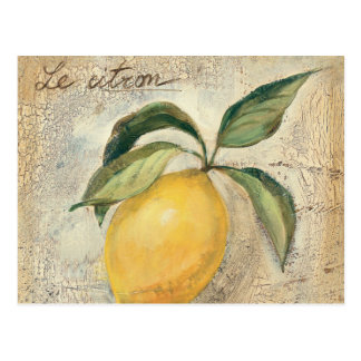 A Yellow Lemon Fruit Post Card