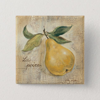 A Yellow Pear 15 Cm Square Badge