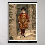 A yoeman of the guard (Beefeater), London, England Print