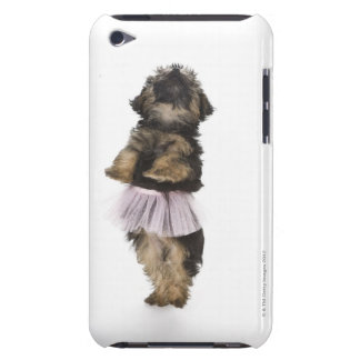 A Yorkie-poo puppy in a tutu on her hind legs. iPod Touch Case-Mate Case