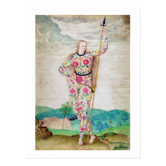 A Young Daughter of the Picts, c.1585 (w/c and gou Postcard