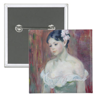 A Young Girl, 1893 15 Cm Square Badge
