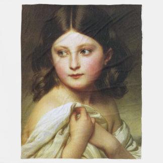 A Young Girl Called Princess Charlotte Franz Xaver Fleece Blanket