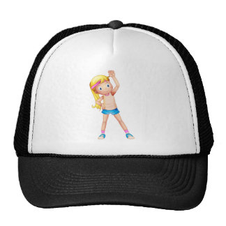 A young lady exercising cap