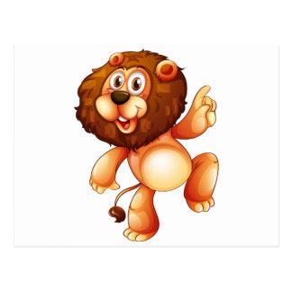 A young playful lion postcard