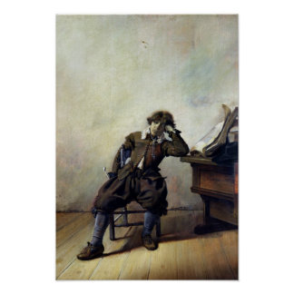 A Young Student in his Study or, The Smoker Poster