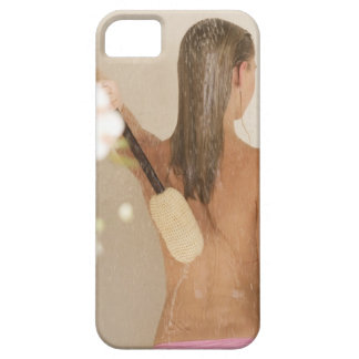 A young woman in a shower iPhone 5 case