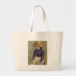 A young womans portrait - Vincent Van Gogh Bag
