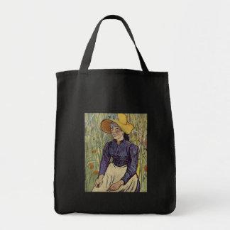 A young womans portrait - Vincent Van Gogh Canvas Bags