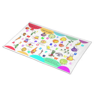 A-Z Fruit and Veggie Kids Placemat