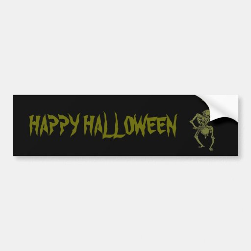 A Zombie Undead Skeleton Marching and Beating A Dr Bumper Stickers