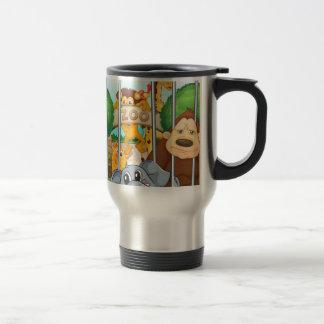 a zoo and the animals coffee mugs