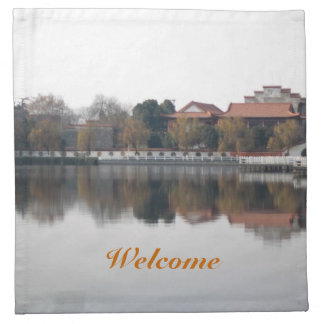A zoo park in Wuhan, China. Ancient Chinese style Cloth Napkins