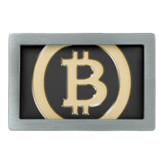 AA568-Bitcoin-Made-of-Gold-symbol Belt Buckle