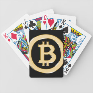 AA568-Bitcoin-Made-of-Gold-symbol Bicycle Playing Cards
