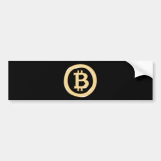 AA568-Bitcoin-Made-of-Gold-symbol Bumper Sticker