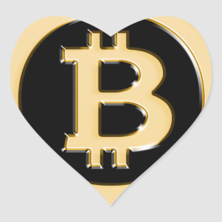 AA568-Bitcoin-Made-of-Gold-symbol Heart Sticker