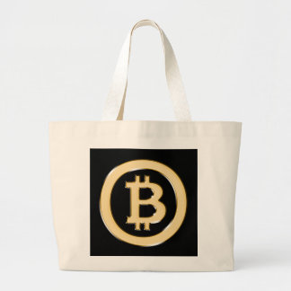 AA568-Bitcoin-Made-of-Gold-symbol Large Tote Bag