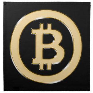AA568-Bitcoin-Made-of-Gold-symbol Napkin