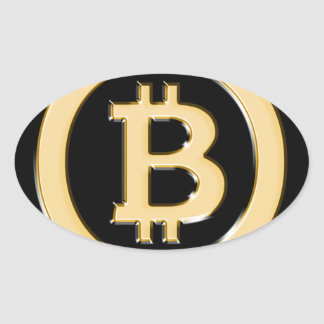 AA568-Bitcoin-Made-of-Gold-symbol Oval Sticker