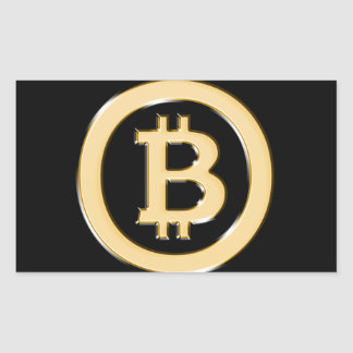 AA568-Bitcoin-Made-of-Gold-symbol Rectangular Sticker