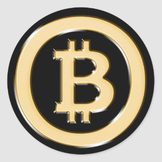 AA568-Bitcoin-Made-of-Gold-symbol Round Sticker