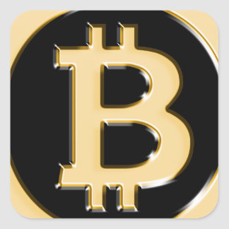 AA568-Bitcoin-Made-of-Gold-symbol Square Sticker
