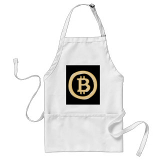 AA568-Bitcoin-Made-of-Gold-symbol Standard Apron