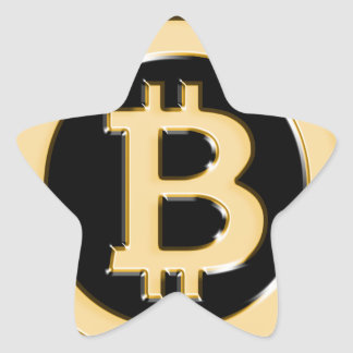 AA568-Bitcoin-Made-of-Gold-symbol Star Sticker