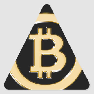 AA568-Bitcoin-Made-of-Gold-symbol Triangle Sticker
