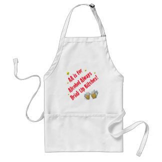 AA is For Alcohol Always Standard Apron