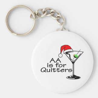 AA Is For Quitters Key Ring