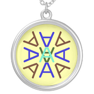 Aa Medallion Earth Silver Plated Necklace